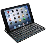 FlyStone Ultra-Thin Backlit Bluetooth Wireless Keyboard Case / Cover With Stand For IPad Air - Built-in High Capacity...