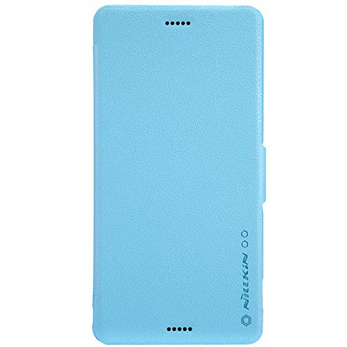 Nillkin Fresh Pu Leather Flip Cover Wallet Case Shell Compatible For Sony Xperia Z3 (Blue)
