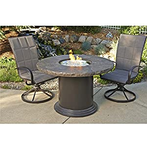 Colonial fire pit dining table patio lawn for Amazon prime fire pit
