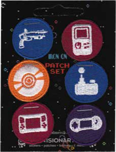 Application Video Games Patch Set, 6-Piece