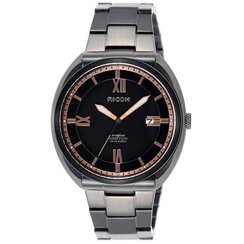 [リコー]RICOH 腕時計 シュルード・アンビション 250本限定モデル ソーラー充電式 10気圧防水 ブラックイオンプレーティング 697007-92 メンズ