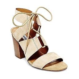 Steve Madden Women\'s Emalena Dress Sandal, Sand Suede, 7 M US
