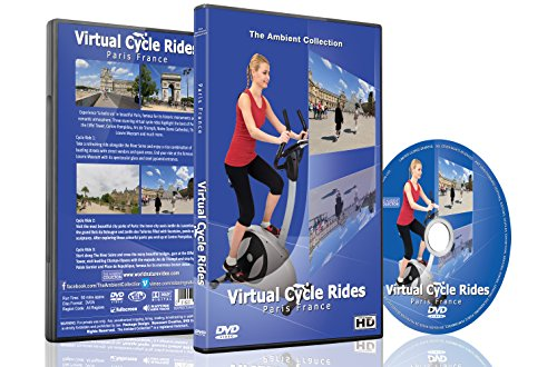 Virtual Cycle Rides - Paris France - For Indoor Cycling, Treadmill and Running Workouts (Cycle Dvd Workout compare prices)