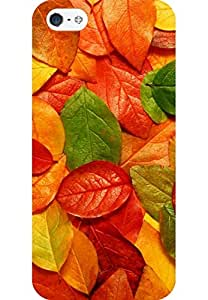 AMEZ designer printed 3d premium high quality back case cover for Apple iPhone 5 (abstarct nature leaves)