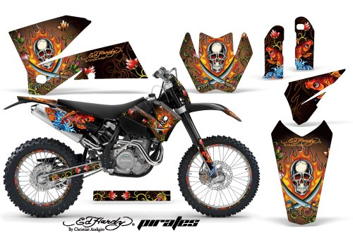 buy today ed hardy ktm c4 sx exc mxc mx dirt bike graphic kit