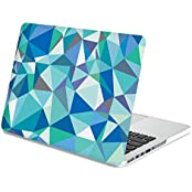 Gmyle Hard Case Print Frosted (Geometric Pattern) For 13 Inch Macbook Pro With Retina Display - Blue Geometric