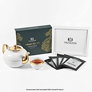 Assorted Loose Leaf Tea Samplers - 10 TEAS -  Exclusive Tea Gifts Set - Black, Green, Oolong, White, Chai Teas - 50 Servings - Perfect Holiday Christmas Gift Box