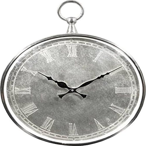 Howard miller ball clock ii wall clock brushed nickel 625527 unique wall clocks www top - Large brushed nickel wall clock ...
