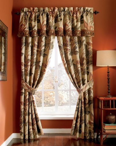 Croscill Home Fashions Bali Harvest Pole Top Drapery, 82-Inch By 84-Inch front-956963