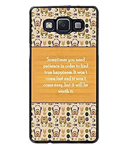PrintDhaba Quote D-3692 Back Case Cover for SAMSUNG GALAXY A5 (Multi-Coloured)