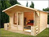 3.7m x 3.3m Studio Log Cabin from Buttercup Farm