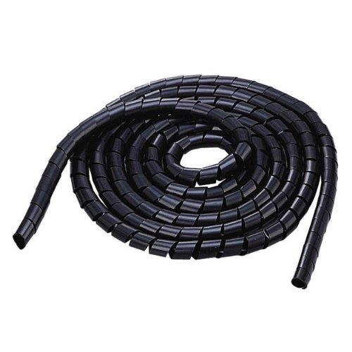 Organizar el revoltijo ELECOM cables de tubo de diámetro 20 mm de longitud de 5.0 m negro BST-20BK