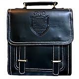 (グラート) GRART レディース 鞄 3way フェイク レザー リュック ショルダー ハンド 斜めがけ スクエア バッグ (ブラック)