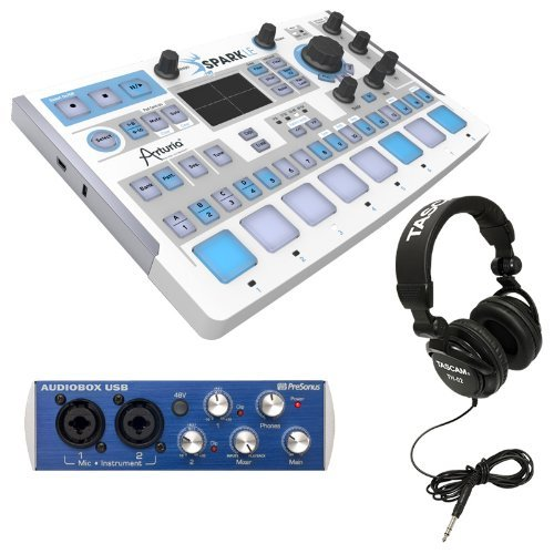 Arturia Sparkle Drum Machine With Presonus Audiobox Usb, Tascam Th-02 Headphones