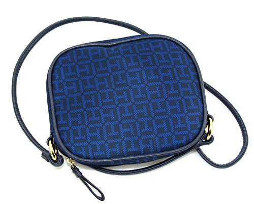 Tommy Hilfiger TH Monogram Nylon Crossbody Bag (Royal/Navy Blue)