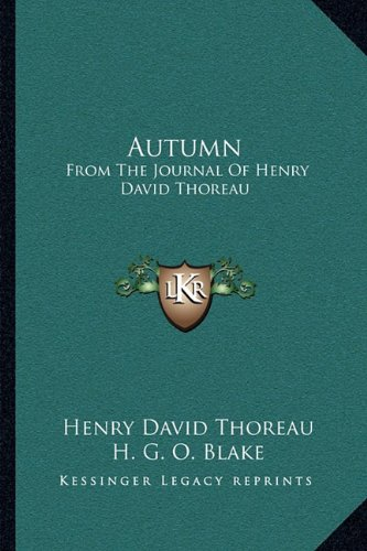 Autumn: From the Journal of Henry David Thoreau