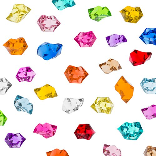 Acrylic Color Ice Rock Crystals Treasure Gems for Table Scatters, Vase Fillers, Event, Wedding, Arts & Crafts, Birthday Decoration Favor (190 Pieces) by Super Z Outlet® (Assorted) (Crystals Crafts compare prices)