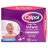 Calpol infantil Sugar Free fresa sobres 12 por paquete