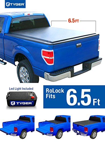 Tyger Auto TG-BC2T2083 RoLock Low Profile Roll-Up Truck Bed Tonneau Cover (For 2007-2016 Toyota Tundra 6.5' Bed Only) (Toyota Tundra Bed Cover compare prices)