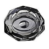 (ロータスライフ)LOTUS LIFE K9クリスタル製 灰皿 おしゃれ な空間演出に Diamond Cut (ブラック)