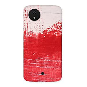 Impressive Red Fresh Texture Back Case Cover for Micromax Canvas A1
