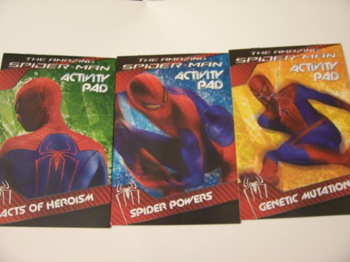 The Amazing Spiderman 3 Pack Activity Pad ~ Genetic Mutations, Spider Powers, Acts of Heroism