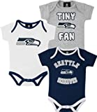 Seattle Seahawks Newborn Tiny Fan 3 Piece Creeper Set at Amazon.com