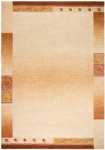 """Hand-Knotted Carpet Nepal Vanilla """"6 Sizes Availlable"""" 2Ft3""""X4Ft6"""""""