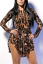 Qurves-Trill Leopard Flared Club Dress