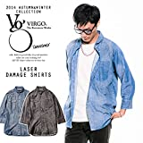 (ヴァルゴ)VIRGO LASER DAMAGE SHIRTS DENIM 2-M
