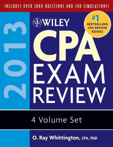 Wiley CPA Exam Review 2013, Set