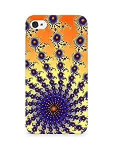 Amez designer printed 3d premium high quality back case cover for Apple iPhone 4 (Fractal geometry CG Design)