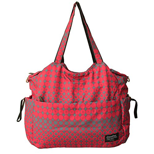 Damai Large Diaper Tote Satchel Bag (Red)