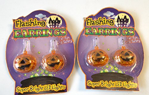 halloween-pierced-earrings-flashing-pumpkins-nip-lot-2-by-shopko