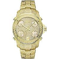 JBW Mens JB-6213-A Jet Setter Gold Five Time Zone Diamond Watch
