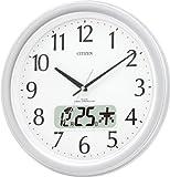 CITIZEN (シチズン) 掛け時計 ネムリーナカレンダーM02 電波時計 液晶カレンダー表示付 4FYA02-019