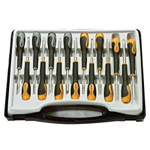 15 piece precision screwdriver set in carry case tool diy amp. Black Bedroom Furniture Sets. Home Design Ideas