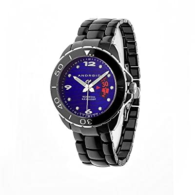 Android Men's AD417AKBU Exotic Divemaster Ceramic Quartz Blue Watch