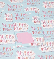 2 Bright Happy Birthday Sheet Wraps