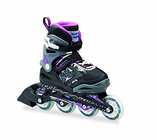 PHOENIX - 4 Size Adjustable Junior Skate - Girls 2016 , Black/Purple, 1 to 4 Adjustable (Rolling Blades compare prices)