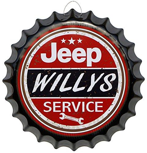 kronkorken-jeep-willys-service-rund-blechschild-oe-41-cm-deko-schild-blech-kk15