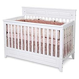 Foundations F34701 Logan Lifetime Convertible Crib Matte White