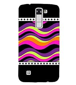 Wave Pattern 3D Hard Polycarbonate Designer Back Case Cover for LG K7 4G Dual