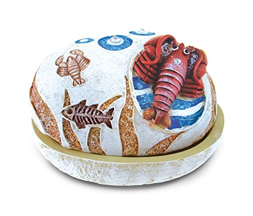 Puzzled Nautical Stone Trinket Box, Lobster