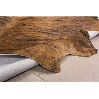 Cowhide Rug , Dark Brindle: XXL 6x8ft (180cmx240cm)