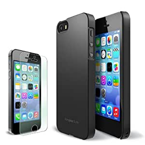 RINGKE SLIM Apple iPhone 5S Case [SF Matte Black] SUPER SLIM + LF COATED + PERFECT FIT Premium Hard Case Cover for Apple iPhone 5 / 5S [ECO Package]