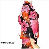 WONDERLAND 高級着物 高級浴衣 花火和服 和服セット イブニングドレス コスプレコスチューム メード服 メード衣装セット蝶結び帯 オレンジ色ピンク色 カラーフール花柄 おしゃれ 5点セット 単品選択可