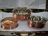 COPPER STEEL LAGAN-DISH SET OF 3PS