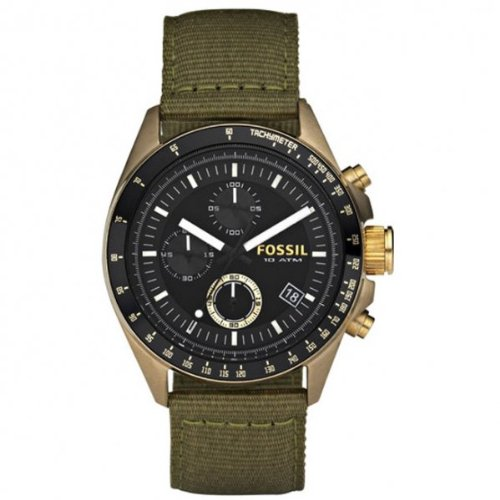 Fossil Men's Vintaged Bronze Chrono Decker Watch - De5017