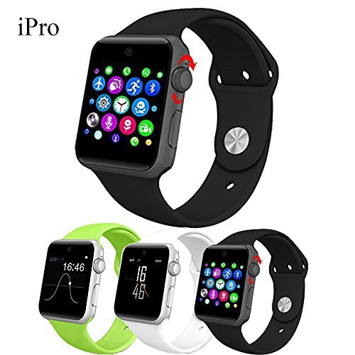 IPRO DM09 Smart Watch LF07 Bluetooth Wrist Watch w G-sensor 2.5D ARC HD Screen Support SIM Card Wearable Devices GSM Pedometer Smartphone Fitness Tracker For IOS Android Black